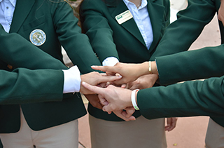 hands of ambassador students