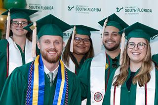 students graduating from USF St. Petersburg