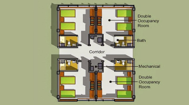floorplan for 2 or 3 people in usc residence
