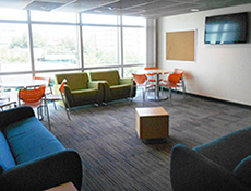 Hall lounge on residence hall floor