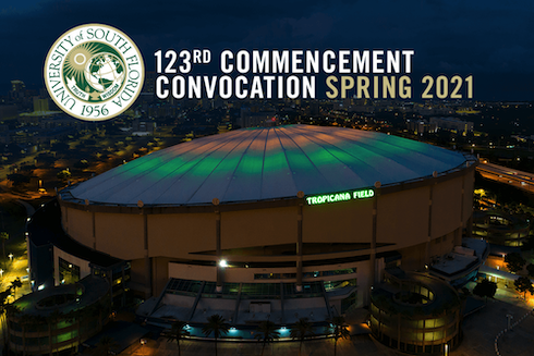 USF President Steven Currall will preside over spring commencement ceremonies scheduled for 9 a.m. and 6:30 p.m. on Saturday, May 8, at Tropicana Field in St. Petersburg.